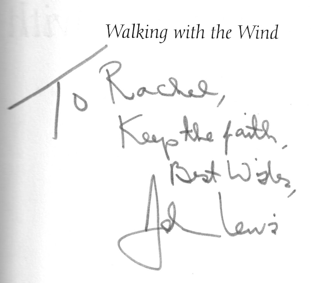 Signed copy of Walking with the Wind by Congressman John Lewis.