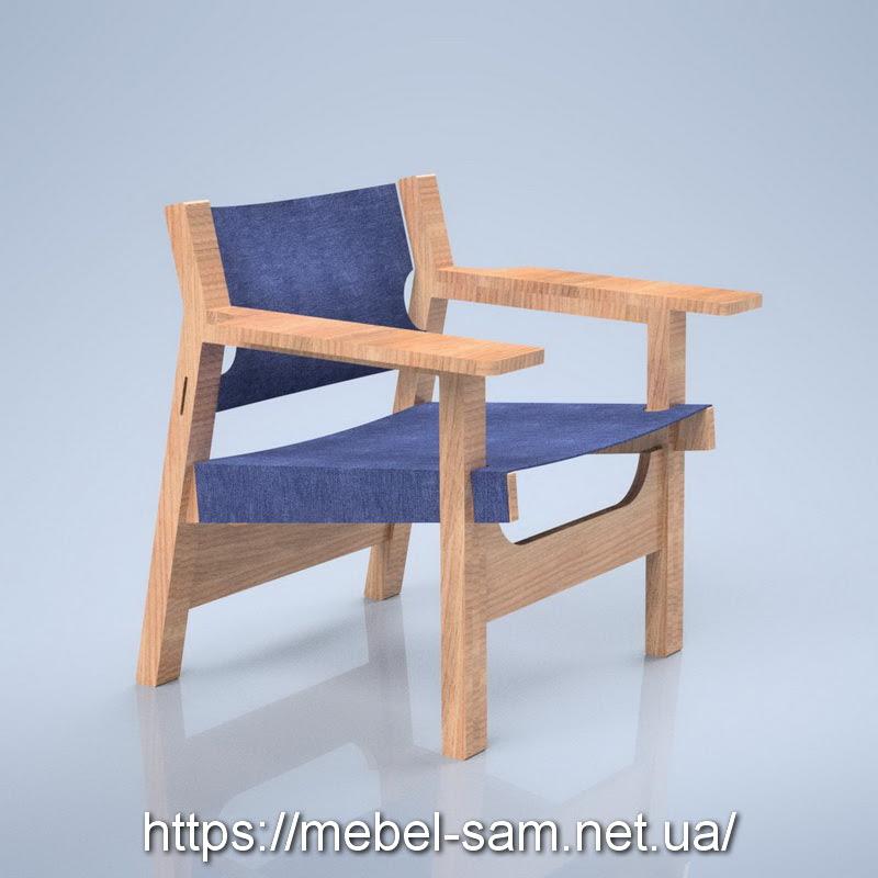 Кресло из фанеры - вид сбоку