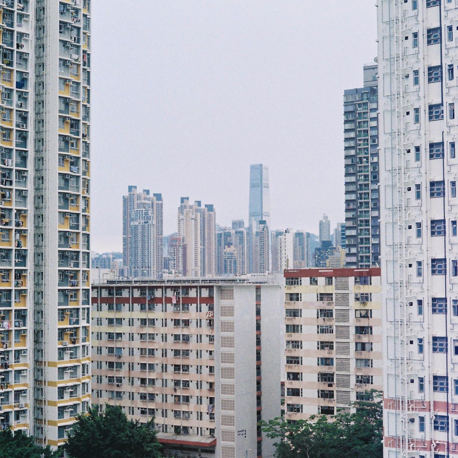 Hong Kong apartments, seen from HKU