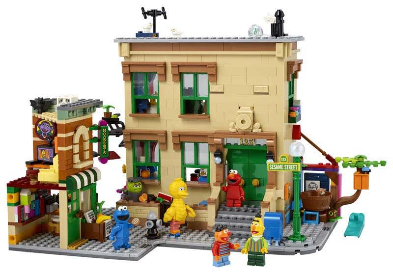 Contenido de LEGO® 21324 123 Barrio Sésamo