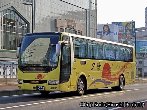 庄内交通「夕陽号」新宿線 ・223 バスタ新宿付近にて