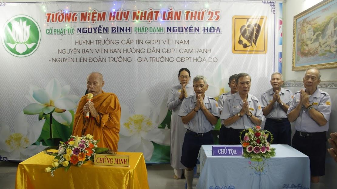 Tưởng niệm Húy nhật lần thứ 25 của cố HTr Nguyên Hòa – Nguyễn Bình