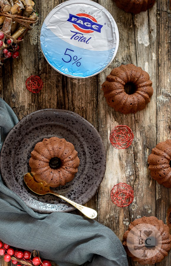 Mini Bundts de yogur, café y chocolate