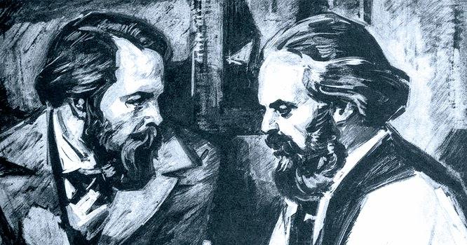 Engels & Marx.