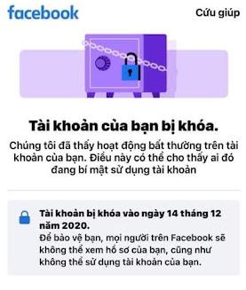 Mở Khóa Tài Khoản Facebook Dạng : Tài Khoản Của Bạn Đã Bị Khóa