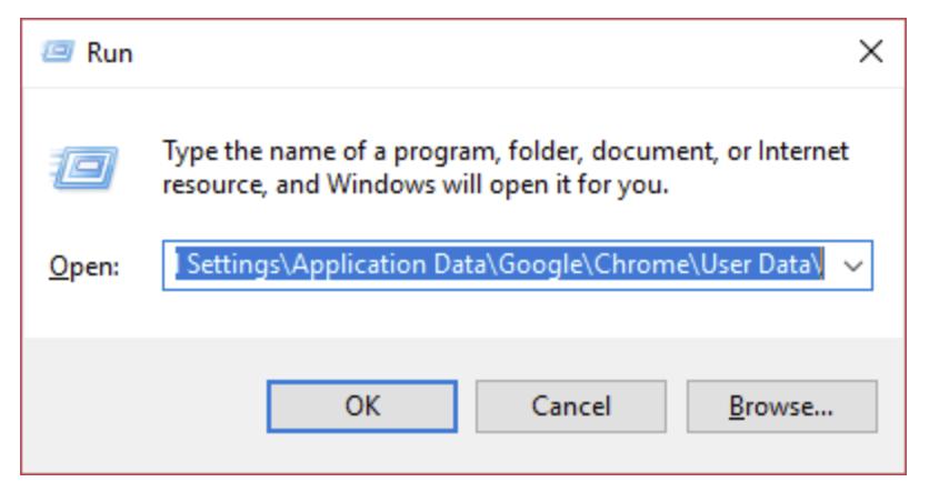 Chrome's User Data folder