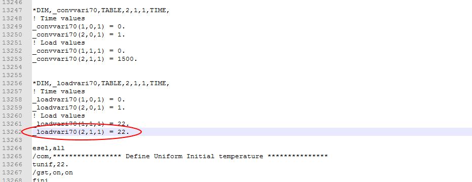 В этом разделе необходимо указать, где именно в файл ModifiedData.dat будет вставлена величина из Flownex