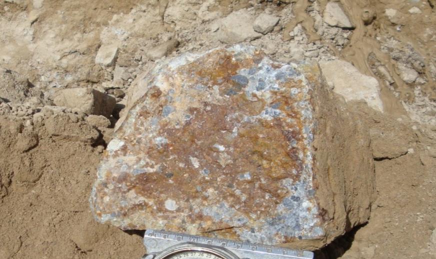 Кварц-альбитовый метасоматит по туфоконгломератам