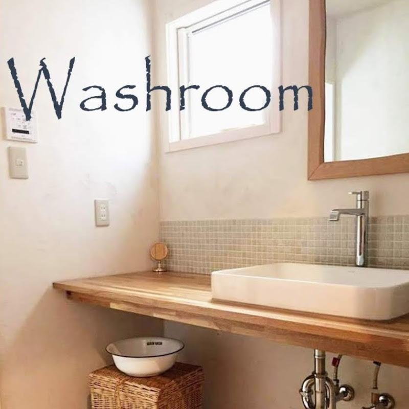 ナチュラルテイストな造作洗面台