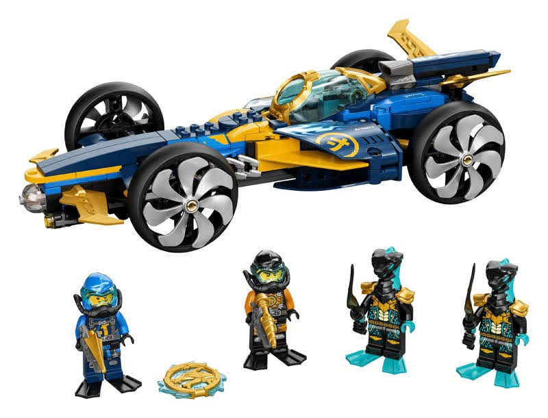Contenido de LEGO® 71752 Submarino Anfibio Ninja