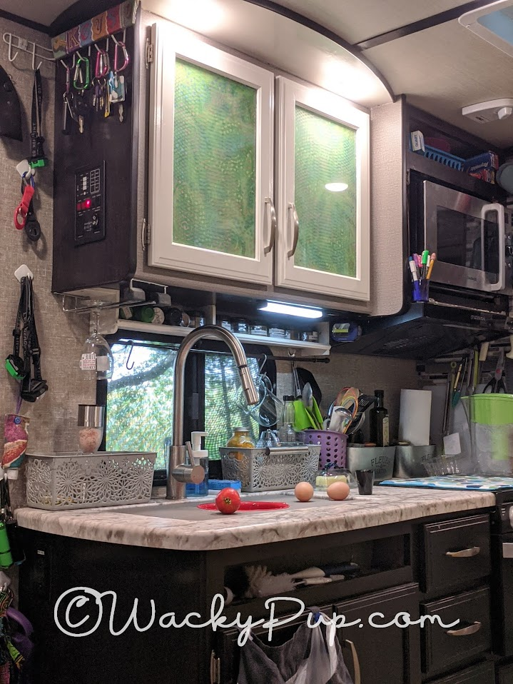 Don't Paint Your RV Cabinets - Do this instead! Genius Idea from Wacky Pup!