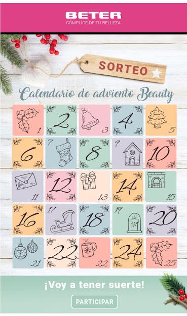 calendario adviento beauty Beter