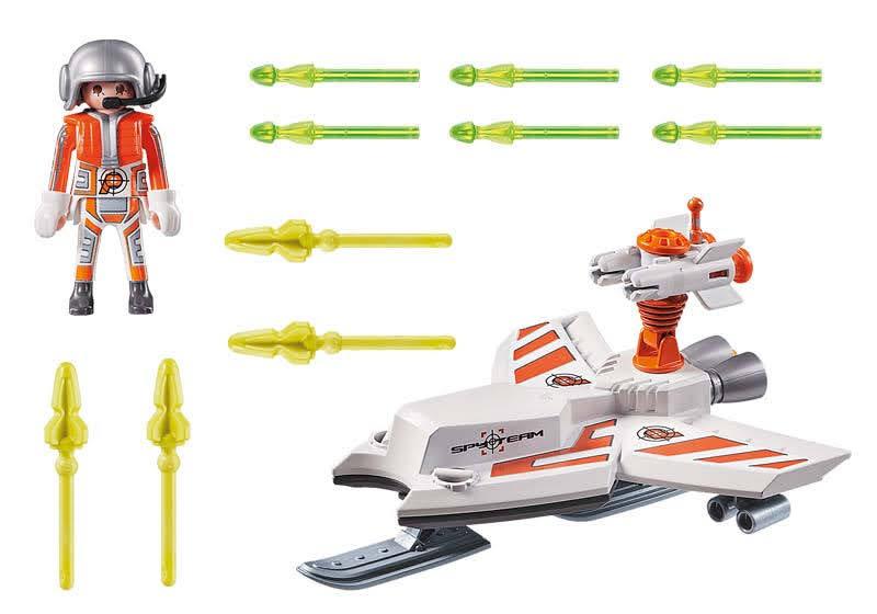 Contenido Real de Playmobil® 70234 SPY TEAM: Volador