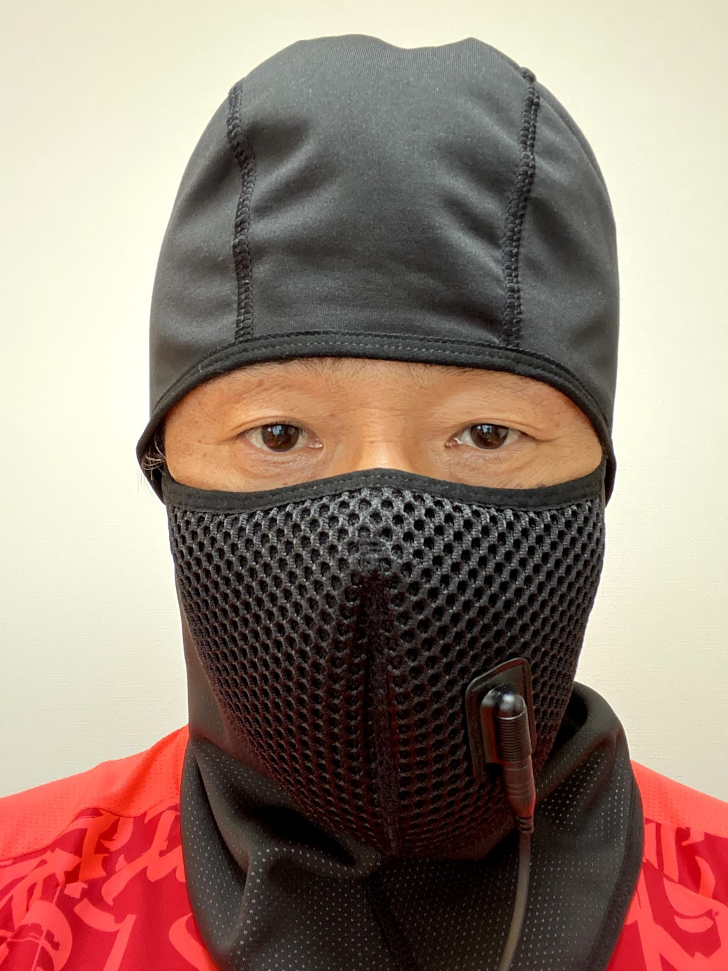 フェイスマスク装着