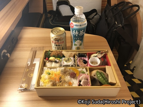 JR西日本 117系「WEST EXPRESS 銀河」 山陽ルート(上り)の旅_夕食