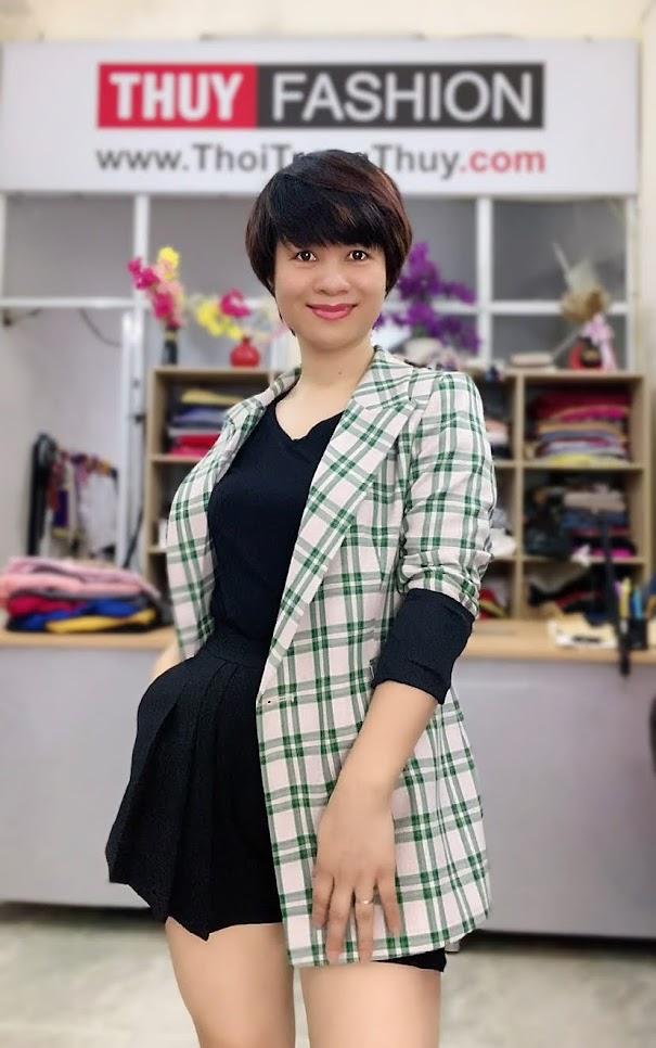 Chú ý lựa chọn áo vest nữ kẻ caro V736 thời trang thủy thái bình