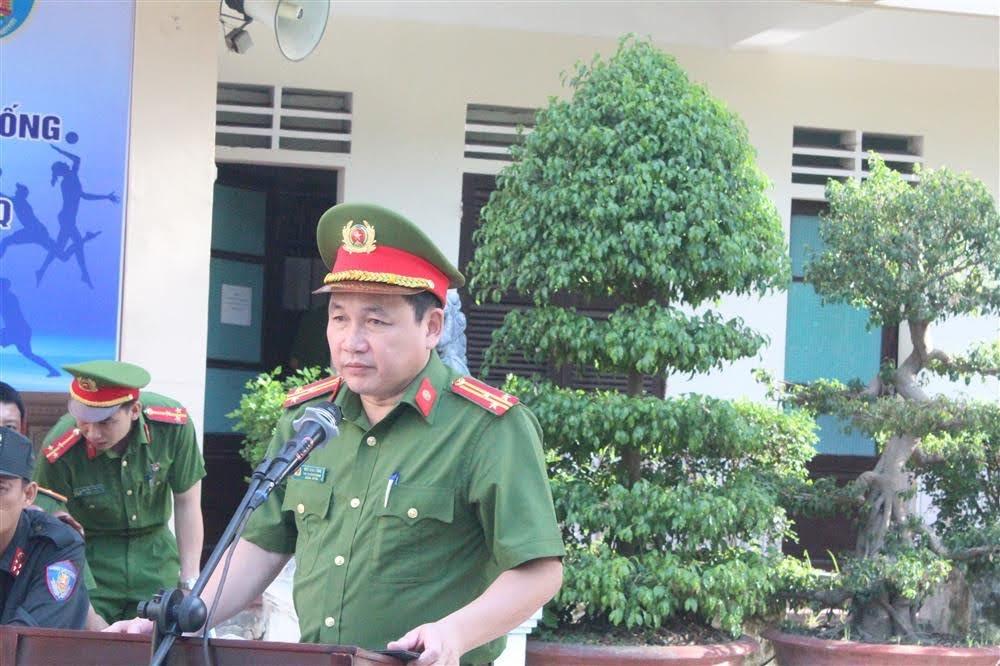 Thượng tá Ngô Minh Tằng, Phó Trưởng phòng Cảnh sát Cơ động phát biểu