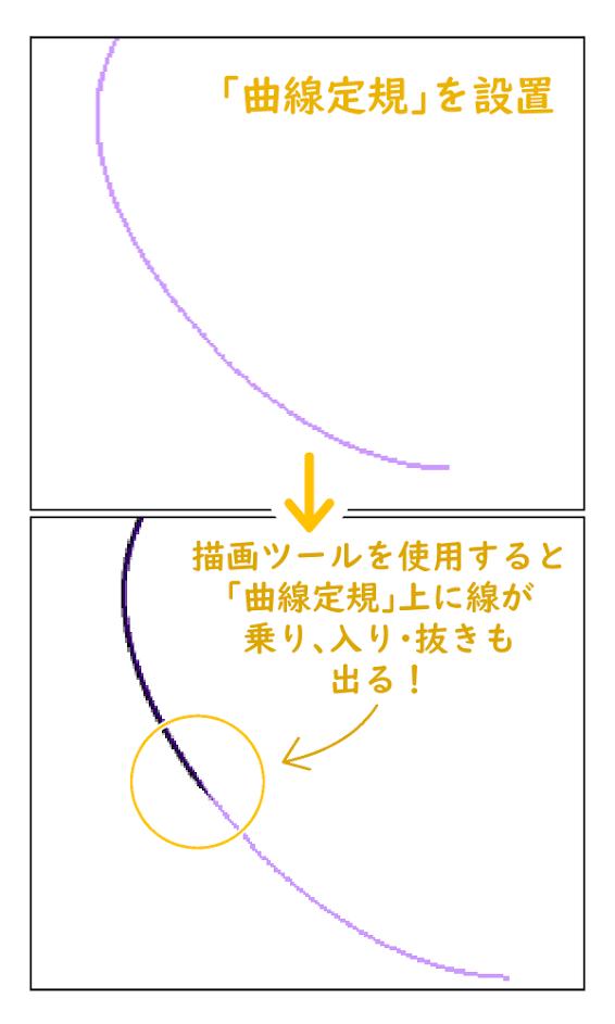 クリスタ:曲線定規