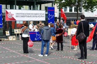 Kundgebung auf dem Heumarkt mit russischer Beteiligung.
