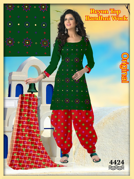 Buy Suresh Original Series 4421 To 4425 Unstitched Ladies Su