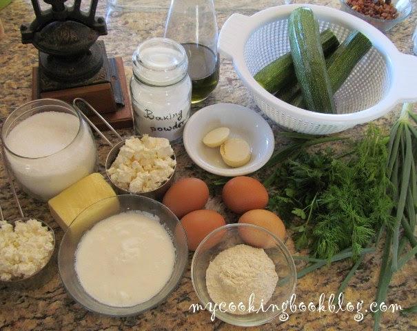 Запеканка (киш) с тиквички и сирена - продукти