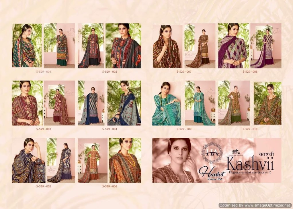 Kashvii Harshit Fashion Pashmina Dress Material Manufacturer Wholesaler