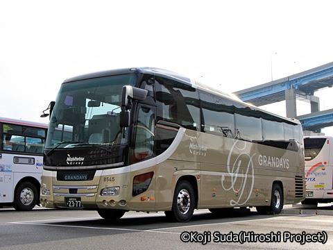 西鉄観光バス「GRANDAYS」 8545 西鉄観光バス本社にて