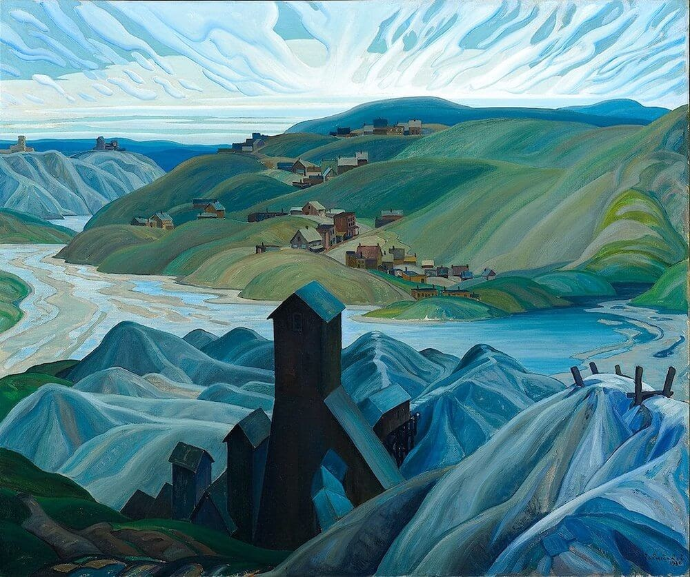 a beautiful landscape Franklin_Carmichael_-_A_Northern_Silver_Mine.jpg