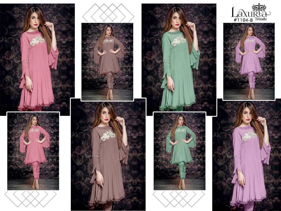 Luxuria Trendz Series 1104 Kurtis Pant Set Catalog Lowest Price