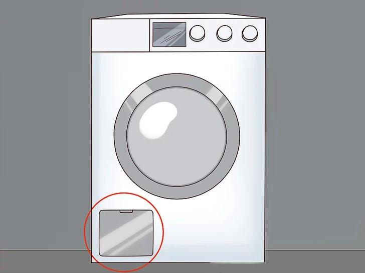 Tìm vị trí bộ lọc cặn của máy giặt