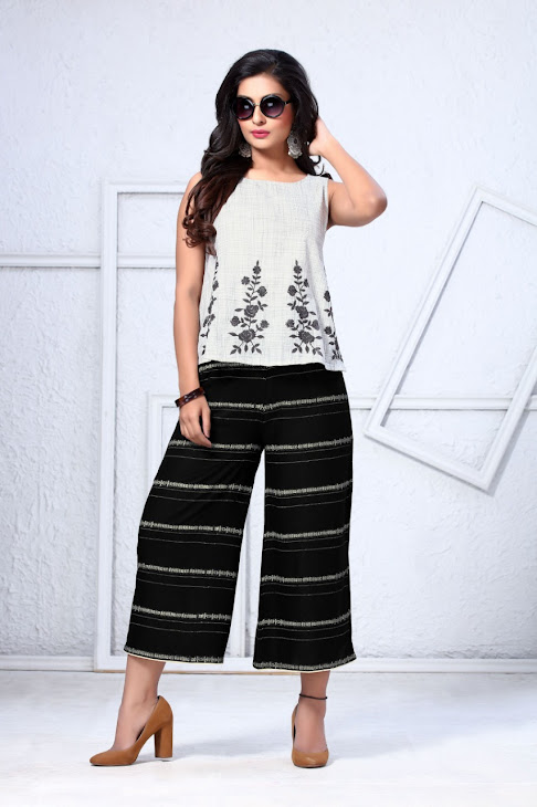 Luvit Cherry Culotes Branded Palazzo Catalog Lowest Price