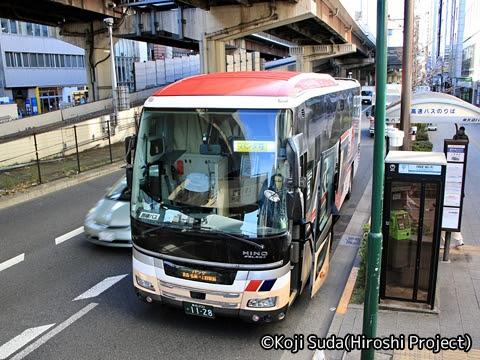弘南バス「パンダ号」臨時便 1128 上野駅前にて