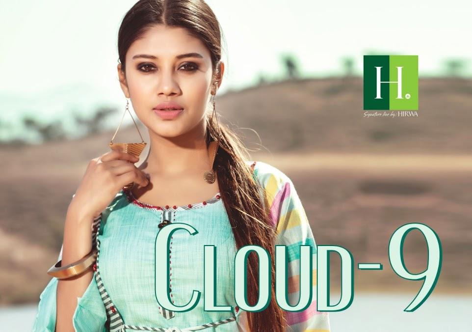 Cloud Vol 9 Hirwa Designer Long Kurtis Manufacturer Wholesaler