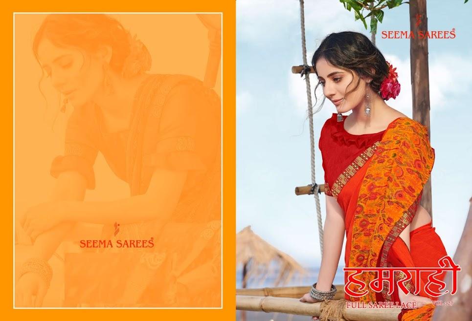 Buy Seema Humrahi Vol 27 Latest Sarees Catalog Online Wholes