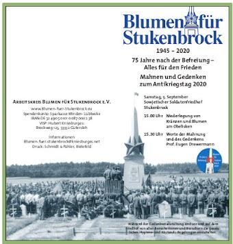 Aufruf, Seite 1: Blumen für Stukenbrock 2020.