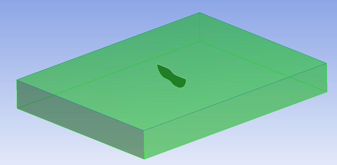 Трещина произвольной формы (Arbitrary Crack), которая задана геометрической поверхностью, пересекающей тело