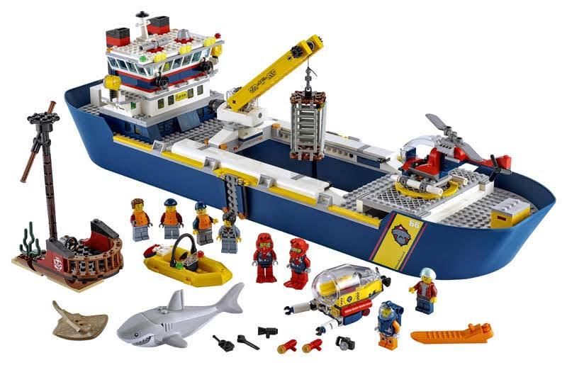 Contenido de Lego® 60266 Océano: Buque de Exploración
