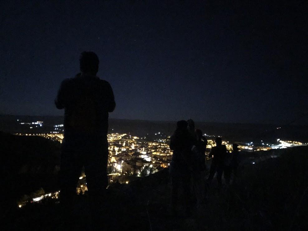 Vista nocturna de Cuenca