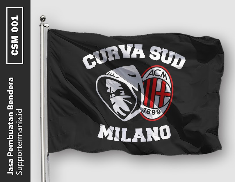 Desain Mini Flag atau Bendera Ultras Curva Sud Milano