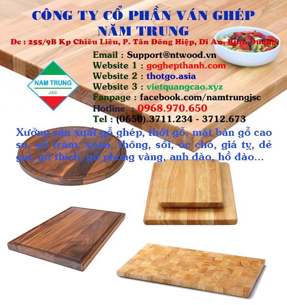 Banner hỗ trợ bạn hàng SX thớt gỗ, mặt bàn gỗ