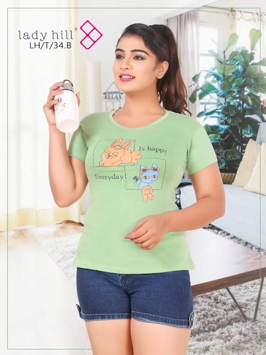 Ladyhill Vol 34B Kavya Girls Tshirt Manufacturer Wholesaler