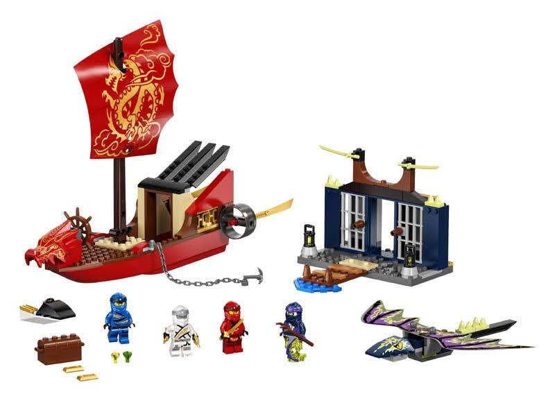 Contenido de LEGO® 71749 Vuelo Final del Barco de Asalto Ninja