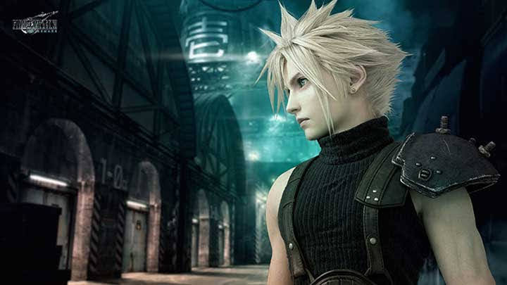 Cloud Strife trong FF7 Remake
