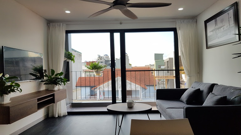 High – end one bedroom apartment with balcony in To Ngoc Van street, Tay Ho district for rent