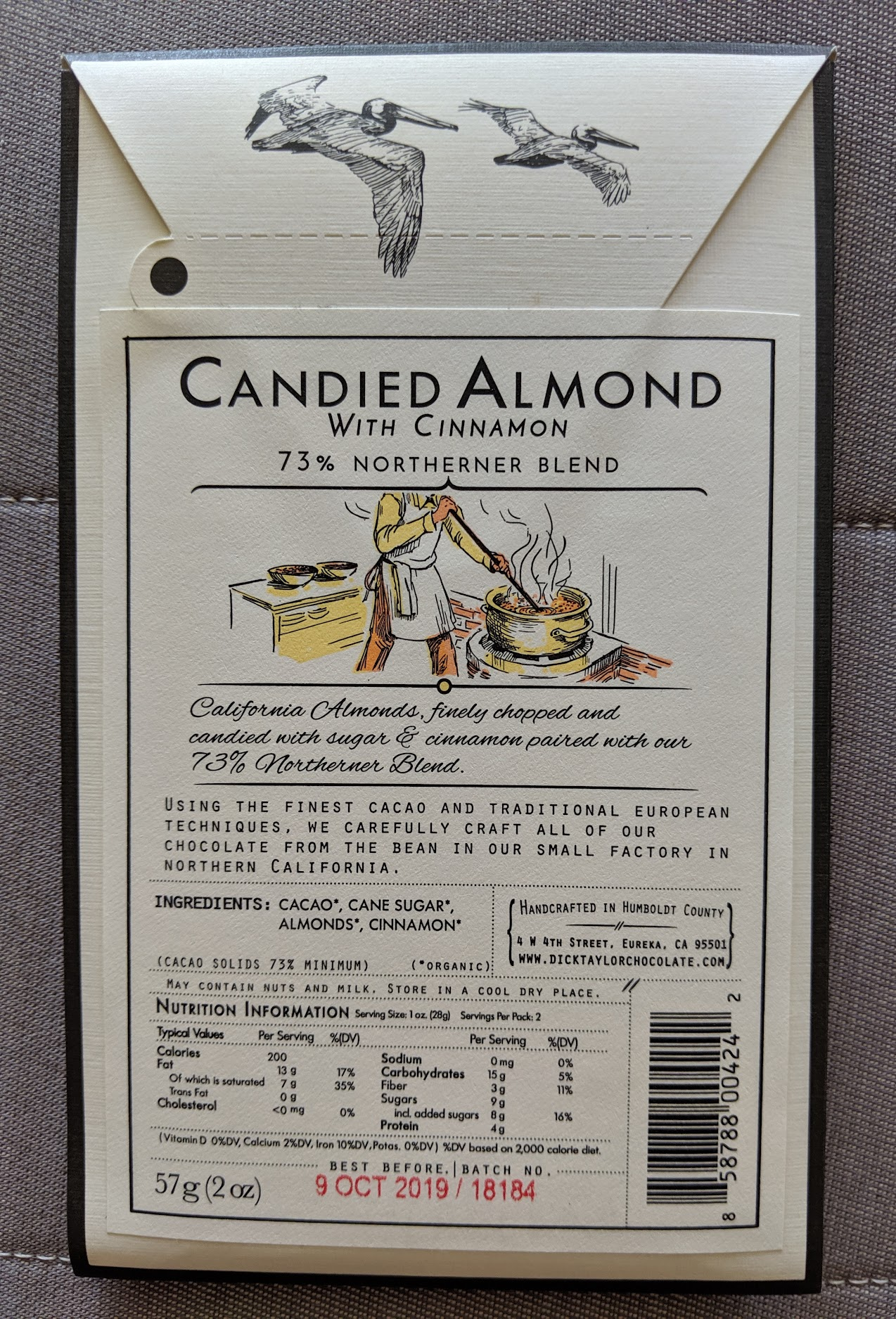 73% dick taylor candied almond bar