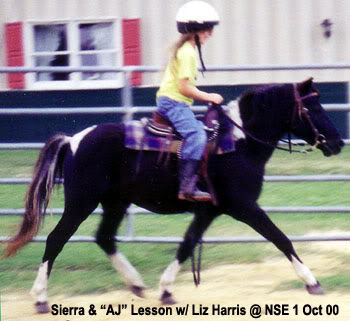 Sierra riding AJ