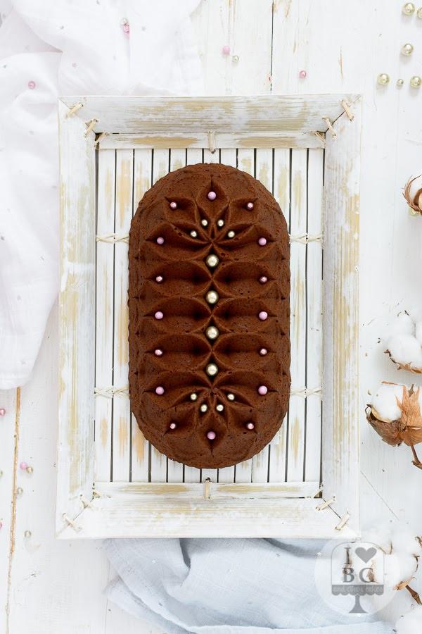 Loaf Cake de chocolate y crema de turrón