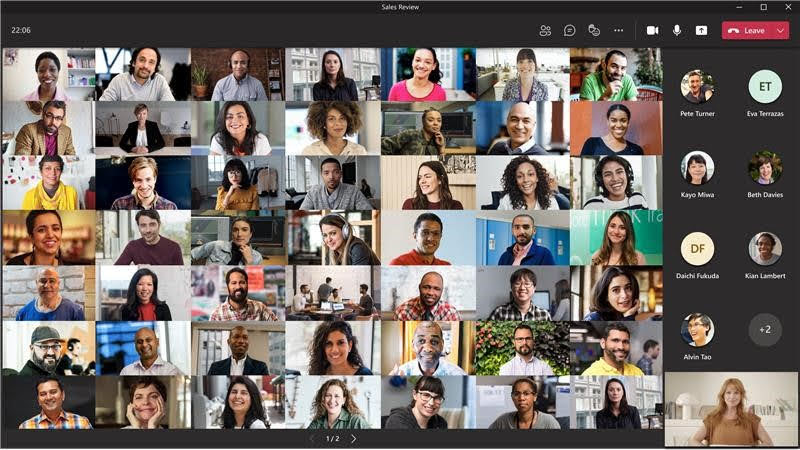 MC263055: Microsoft Teams: Paging in Large Gallery  up to 98 Videos