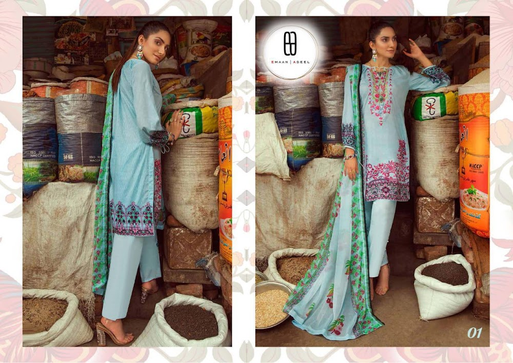 Emaan Adeel Vol 1 Kavya Dress Material Manufacturer Wholesaler