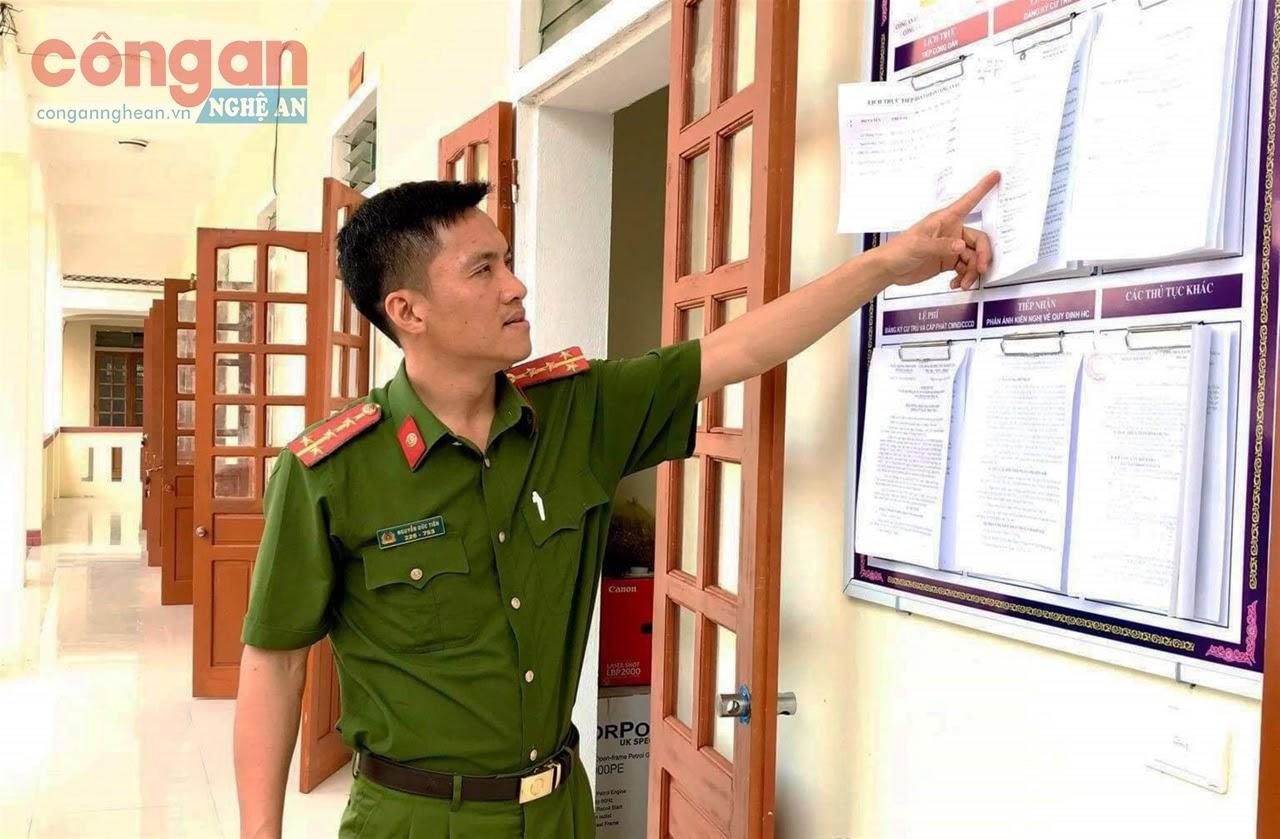 Công an xã Thanh Lĩnh là một trong những điểm sáng của  huyện Thanh Chương đã sớm hoàn thiện cơ sở dữ liệu quốc gia về dân cư